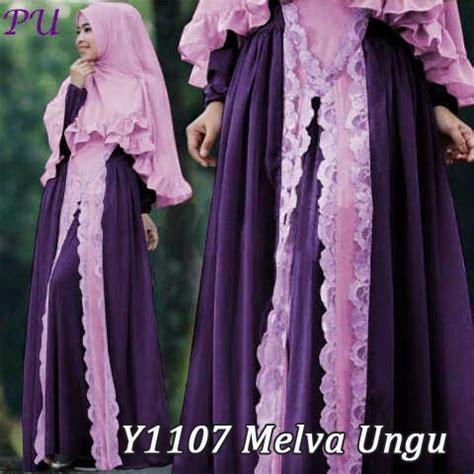 Gamis Bergo gamis bergo cantik melva y1107 baju muslim pesta