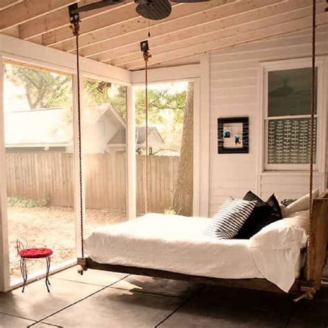 bed swing swing bed back porch pinterest