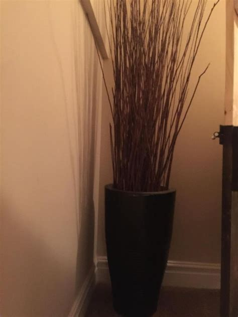 Vase With Sticks by Ceramic Vases These Black Ceramic Vases Come With The