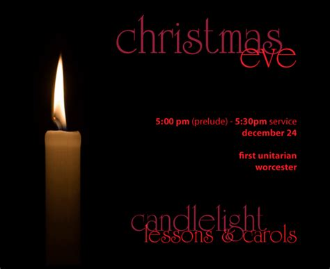 Candlelight Service Program - services candlelight lessons carols at