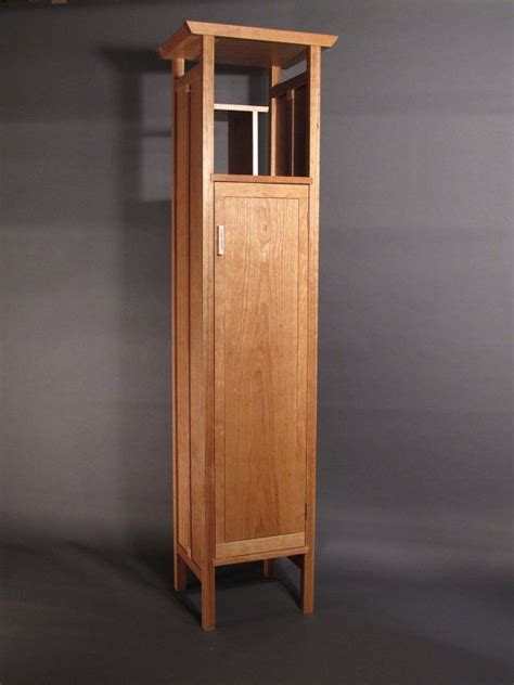 Tall, Narrow Armoire Cabinet: in Cherry  Handmade Custom