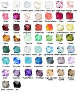 crystals by color gemstone color chart 183 gloria s glitz glam 183