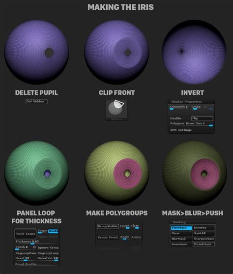 zbrush tutorial eyes 1198 best tutoriales images on pinterest