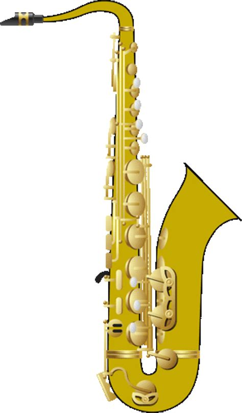 saxophone clip instrument clipart band instrument pencil and in color