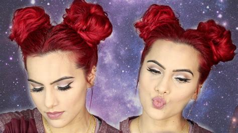 Two Buns Hairstyle Hair Black by Space Buns Buns Hair Tutorial
