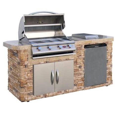 Home Depot Bbq Grills cal 7 ft grill island with 4 burner stainless