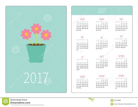 flower pot pocket card template pot with three flowers vector illustration