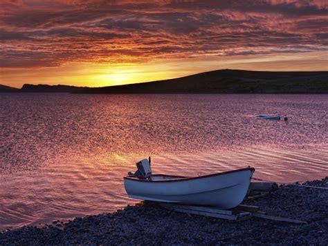 soft evening   lake hdr boats shore hd wallpaper