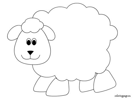 sheep coloring page coloring page