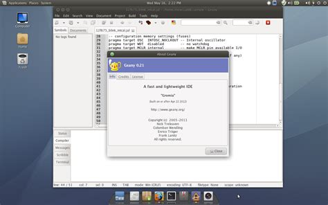 tutorial geany linux the windmill using geany as ide for jalv2 language