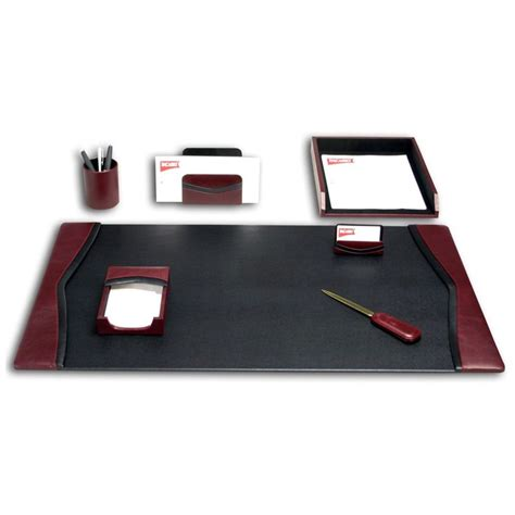Have To Have It Dacasso Brescia Leather 7 Piece Desk Set Desk Blotters And Accessories