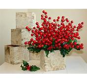 Christmas Centerpiece Birch Bark Vases Wood Boxes Square