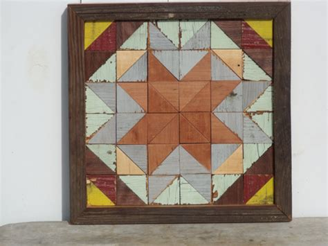 Wooden Barn Quilts by Wooden Barn Quilt Geometric Salvaged Wood