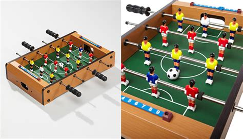 Mini Foosball Coffee Table Mini Foosball Table The Awesomer