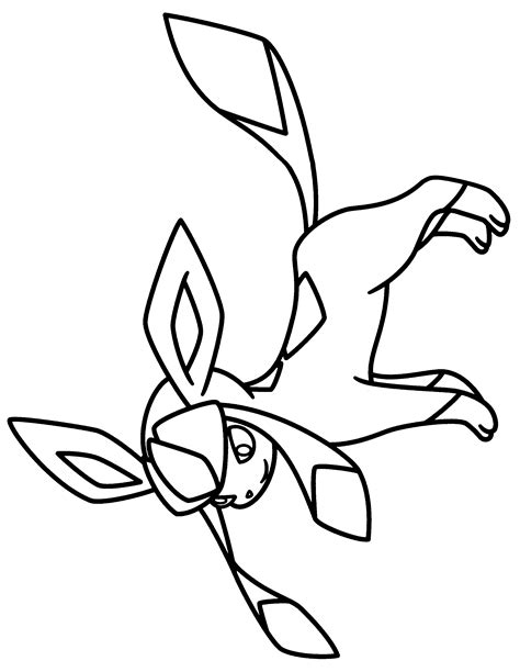pokemon coloring pages glaceon free coloring pages of eevee