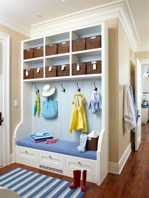 mudroom organization 75 clever hallway storage ideas digsdigs