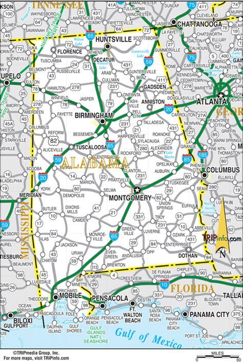 map of alabama alabama map
