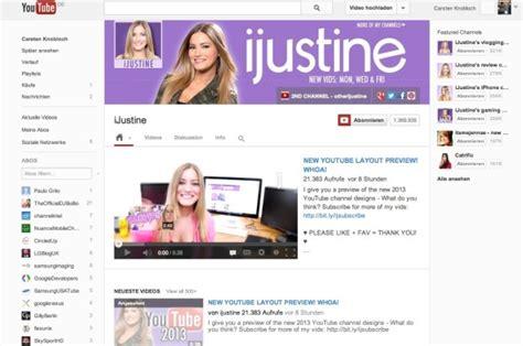 youtube kanal layout ändern youtube neues kanal layout kommt