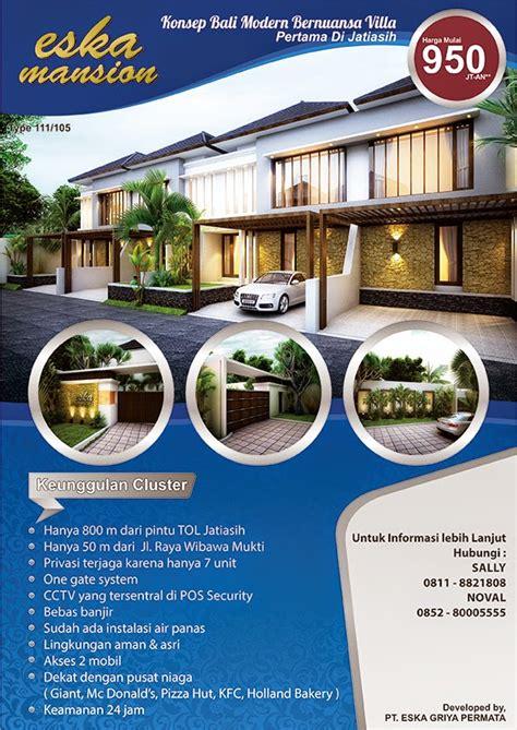 Harga Spanduk Rumah by Contoh Brosur Perumahan Menarik Contoh Brosur Contoh