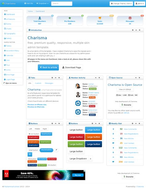 charisma template free website templates web templates html5 css cms