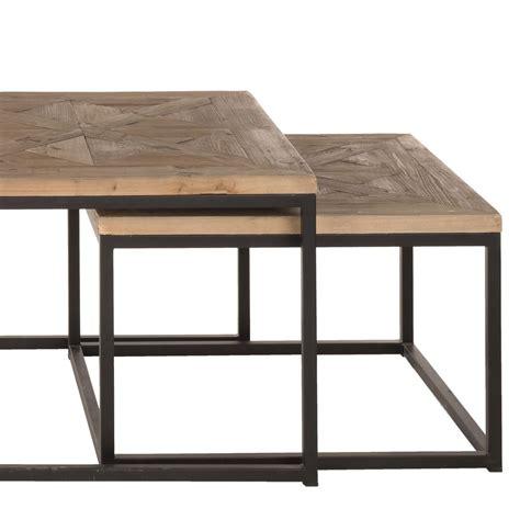 Table Metal Et Bois by Table Basse Metal Et Bois Id 233 Es De D 233 Coration Int 233 Rieure