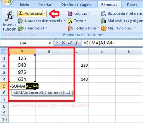 esta funcionalidad de excel permite agilizar la captura de registros 191 c 243 mo usar el comando autosuma en excel