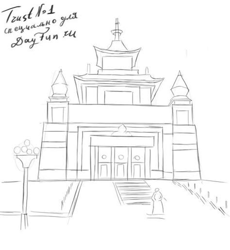 How to draw Buddha Temple step by step   ARCMEL.COM