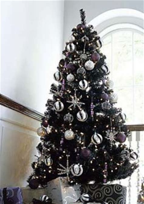 black and silver christmas tree christmas pinterest