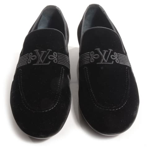 black velvet loafers mens louis vuitton velvet parade mens loafer 10 5 black 72292
