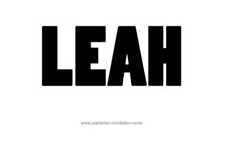 leah tattoo designs name designs