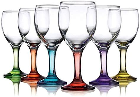 colored wine glasses klikel carnival 10oz assorted colored wine glasses set