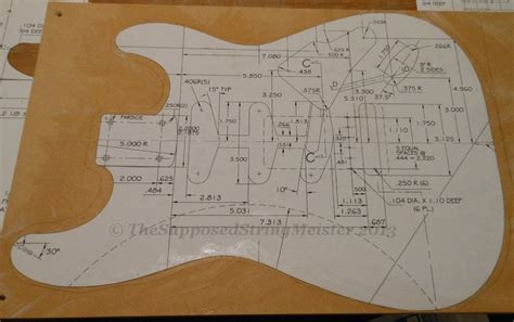 stratocaster body template images