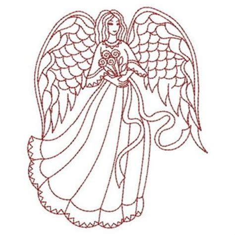 embroidery design angel redwork floral angel embroidery designs machine