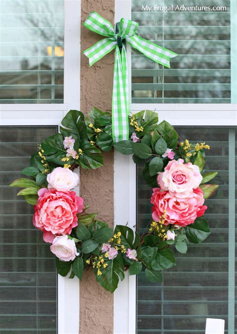 how to make a spring wreath for front door spring wreath monogrammed spring wreath summer wreaths