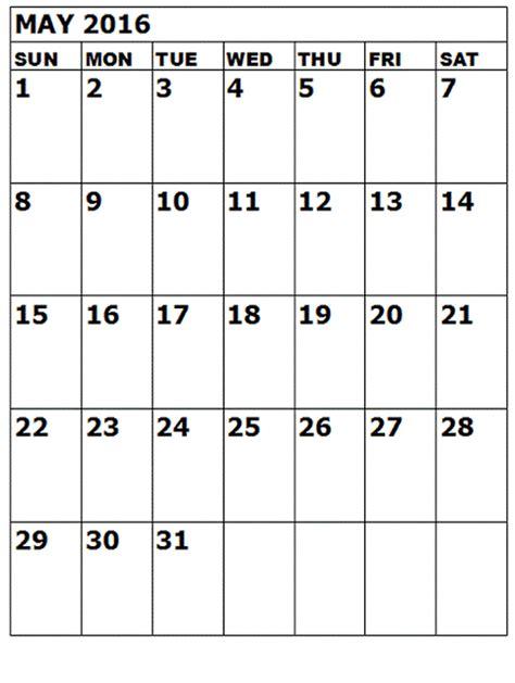 printable calendar portrait may 2016 a4 calendar printable printable calendar templates