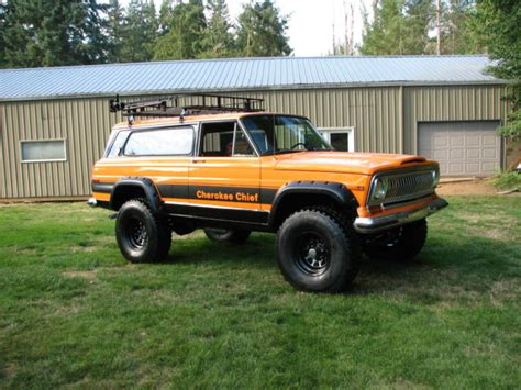 jeep wagoneer lifted 1977 jeep chief sport wide track 4x4 restored
