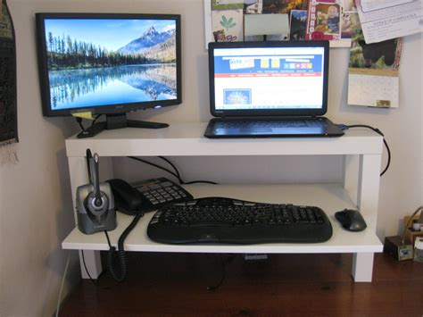 desk monitor stand ikea monitor laptop stands archives ikea hackers