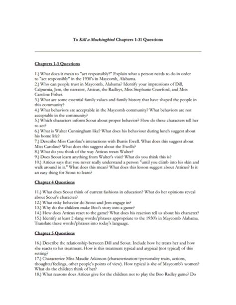questions about to kill a mockingbird themes to kill a mockingbird worksheets lesupercoin printables