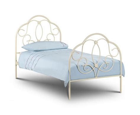 single metal bed frame julian bowen arabella 3ft single stone white metal bed frame by julian bowen