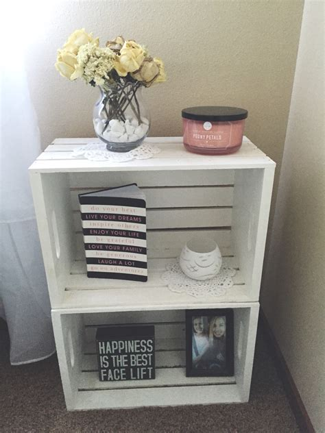 how high should my bed be one nightstand next to my bed diy crates from michaels