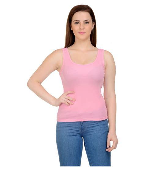 Yasmin Top 2in1 Pnk neuvin pink cotton tank tops buy neuvin pink cotton tank tops at best prices in india