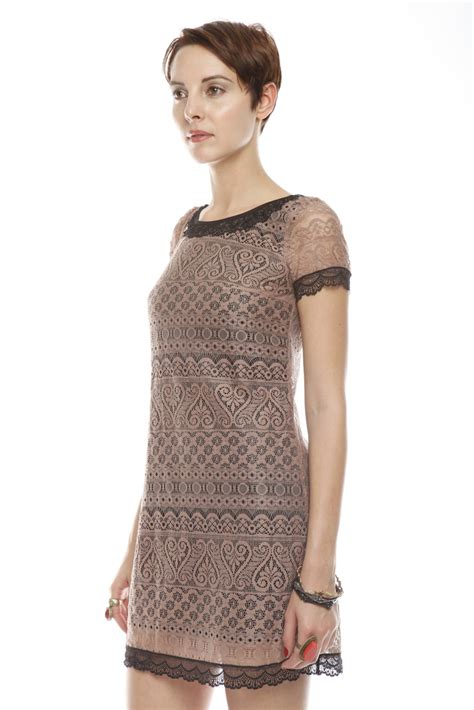 Bj 9024 Brown Lace Dress sugarhill brown lace dress from nolita by bellaritta