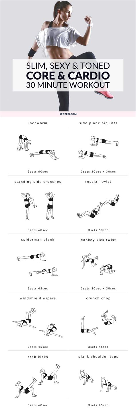 bodyweight  home core  cardio workout