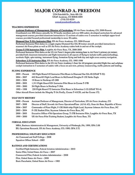 Aviation Resume Builder by Sle Resume For Aviation Industry Pilot Template