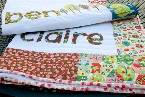 Personalised Baby Quilt by Inspiration His Hers Personalized Baby Quilts