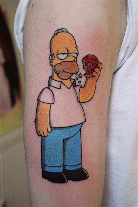 homer simpson tattoo tatuagem homer comendo rosquinha simpsons