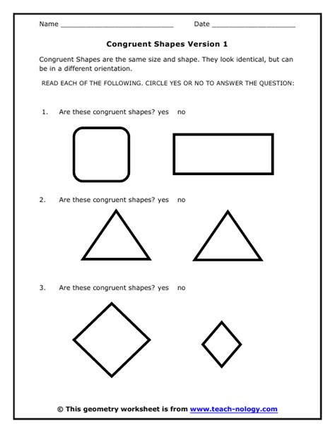 Congruence Worksheets by Shapes Of Galaxies Worksheet Pics About Space