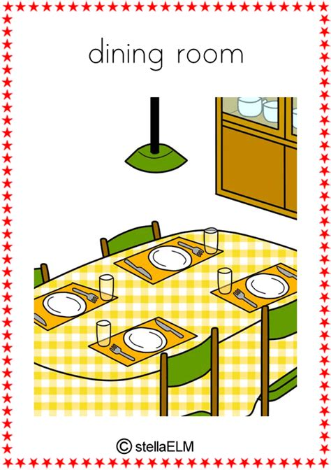 White Dining Room Set flashcards in the house