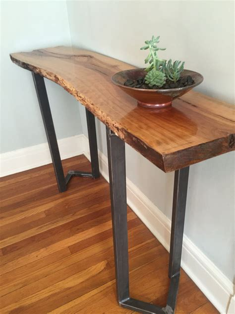 live edge sofa table sofa table entryway table live edge slab bar table console