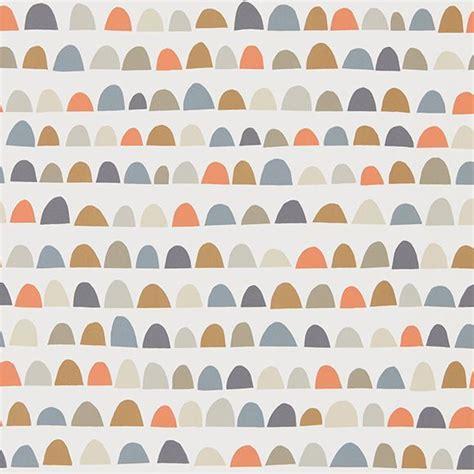 Tapisserie Orange by Papier Peint Demi Cercles Gris Vert Kaki Orange